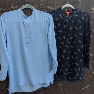 ⚡3/$20⚡2 lot Tunic style shirts EUC!- sz: XS